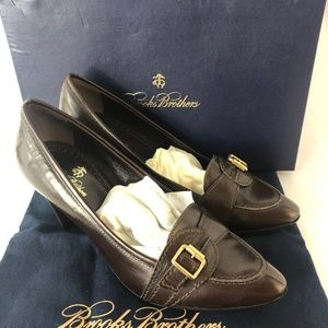 New Brooks Brothers Women Brown Leather Shoes